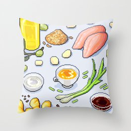 Cooking Ingredients Throw Pillow