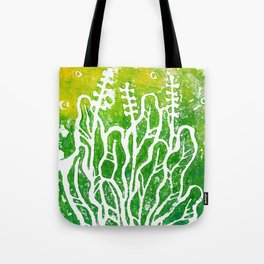 Summer Herbs, abstract floral Tote Bag