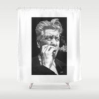 lynch Shower Curtains featuring David Lynch by erintquinn