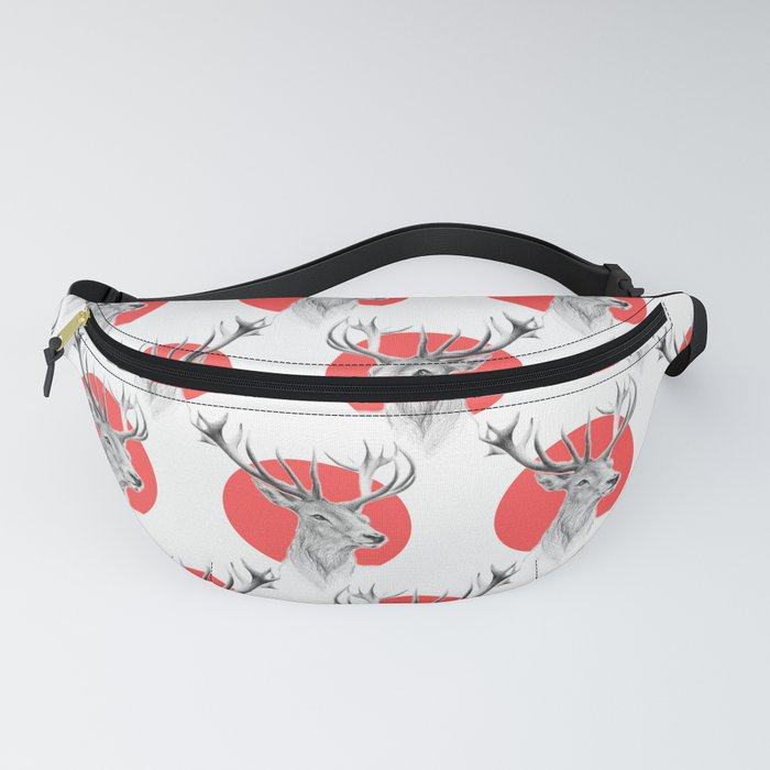 Deer | red Fanny Pack