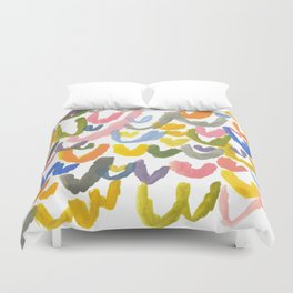 Abstract Letterforms 1 Duvet Cover