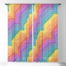 Rainbow Wave Sheer Curtain