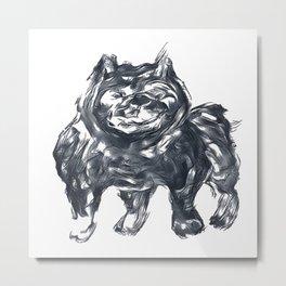 black pitbull Metal Print