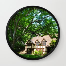 Haus with Tree Wall Clock