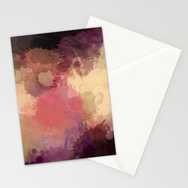 Modern Contemporary Ultra Violet Glow Abstract Stationery Cards