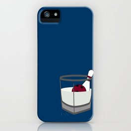 Hey, careful, man, there's a beverage here!  iPhone Case