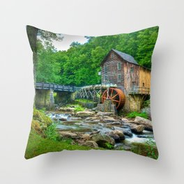 Image USA Stream Babcock State Park Nature water m Throw Pillow