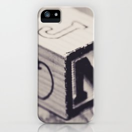 Toy cube... Monochrom iPhone Case
