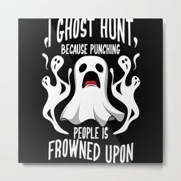 Ghost Hunt Ghostbusters Halloween Ghost Metal Print