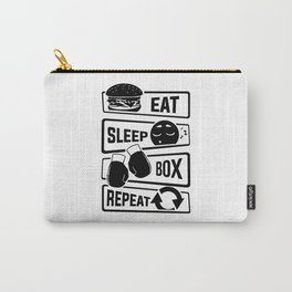 Eat Sleep Box Repeat - Boxing Boxer Uppercut Jab Carry-All Pouch