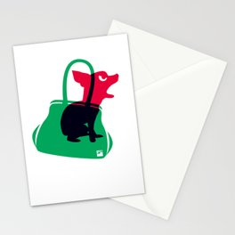 Angry animals: chihuahua - little green bag Stationery Cards