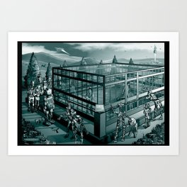 People In Glass Houses Art Print