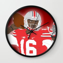Ohio State Buckeyes - JT Barrett - 2016 Wall Clock
