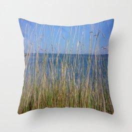 Sea horizon line Throw Pillow