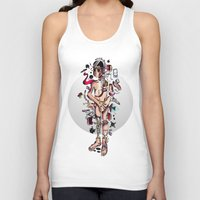 geek Tank Tops featuring GEEK by Joni Waffle