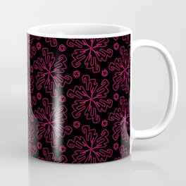 Red Wire Snowflakes Coffee Mug
