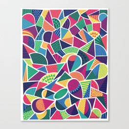 Bright Abstract Geo Canvas Print
