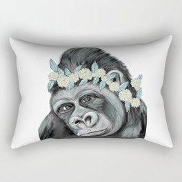 Lovely Gorilla Rectangular Pillow