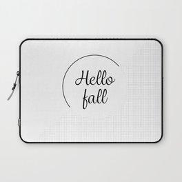 Hello fall | minimilist grid Laptop Sleeve
