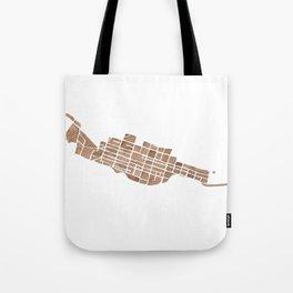 Telluride Colorado Map Tote Bag