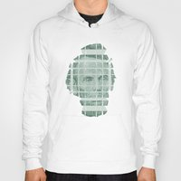literary Hoodies featuring The Various Parts of Mr. Lincoln Exploding Towards the Viewer by Literary Mint