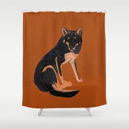 Black dingo (c) 2017 Shower Curtain