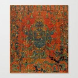Mahakala And His Entourage Canvas Print