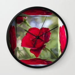 Rose Mirror Box Wall Clock