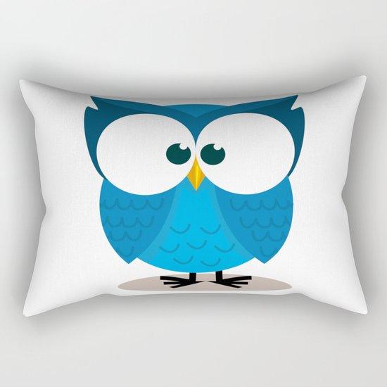 BLUE OWL Rectangular Pillow