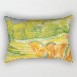 """Franz Marc """"Large Landscape I (Landschaft I)"""" Rectangular Pillow"""