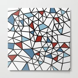 Segment Red and Blue Metal Print
