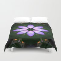 drum Duvet Covers featuring The Rose Petal Drum.... by Cherie DeBevoise