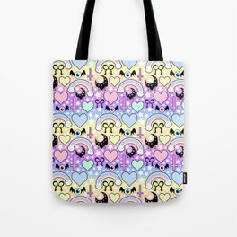 Pastel Goth Collage Tote Bag