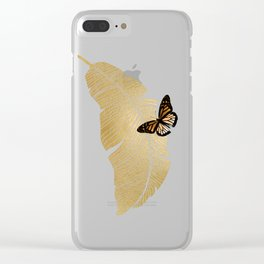 Butterfly & Palm Clear iPhone Case