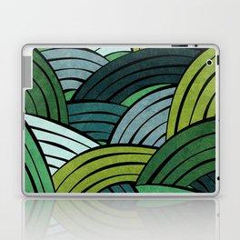 Lines - Green Laptop & iPad Skin