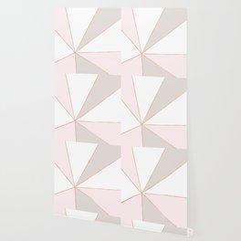 GEO SUNBURST ROSEGOLD PASTEL Wallpaper