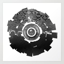Metal Sun Art Print