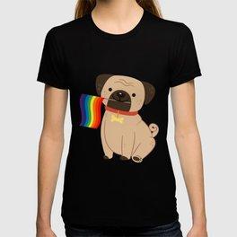 LGBT Gay Pride Flag Pug - Pride Gay T-shirt