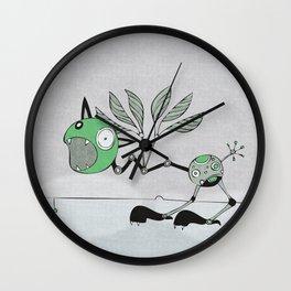 Very Green Schrieky Wall Clock
