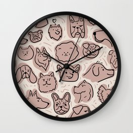 DOGGOS - cute dog illustration Wall Clock