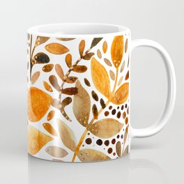 Autumn watercolor leaves Coffee Mug