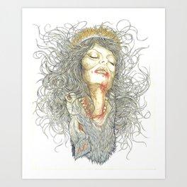 Night of the Werewolf Art Print