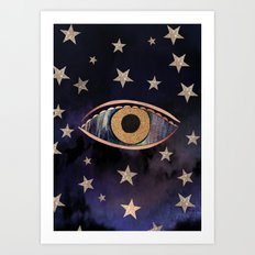 Open your third eye Art Print