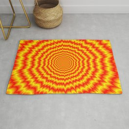 Big Bang in Red and Yellow Rug