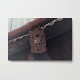 Rusted Lock - Williams, CA Metal Print