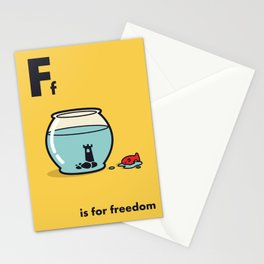 F is for freedom - the irony Stationery Cards