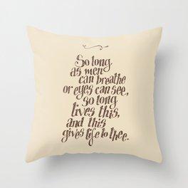 Thy eternal summer shall not fade Throw Pillow