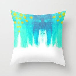 On the Plus Side (blue)  Throw Pillow