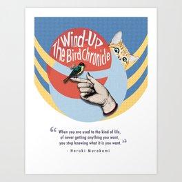 The Wind-Up Bird Chronicle - Haruki Murakami Art Print
