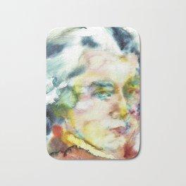 WOLFGANG AMADEUS MOZART - watercolor portrait Bath Mat